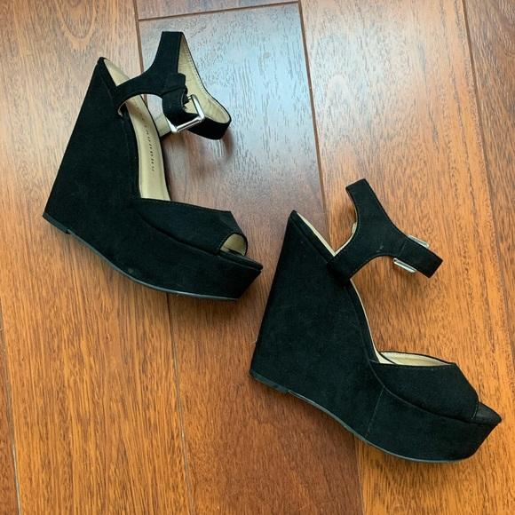 Chinese Laundry Shoes - Black Wedges • Size 7